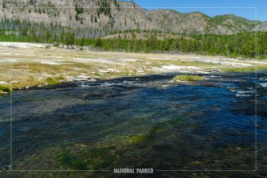 Firehole River in Yellowstone National Park in Wyoming
