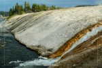 Firehole River at Midway in Yellowstone National Park in Wyoming