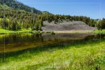 Floating Island Lake in Yellowstone National Park in Wyoming