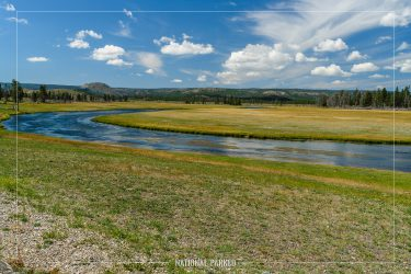 Fountain Flat Drive in Yellowstone National Park in Wyoming