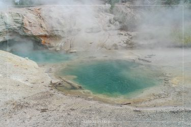 Green Dragon Spring in Yellowstone National Park in Wyoming