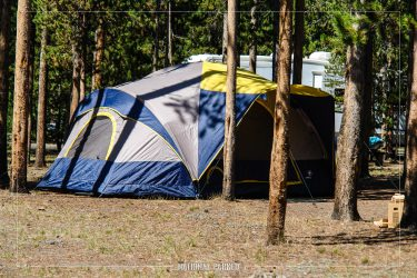 Madison Campground in Yellowstone National Park in Wyoming