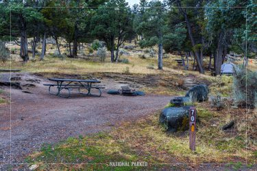 Mammoth Campground in Yellowstone National Park in Wyoming