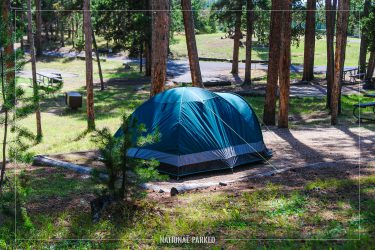 Norris Campground in Yellowstone National Park in Wyoming