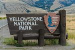 North Entrance Sign in Yellowstone National Park in Wyoming