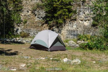 Pebble Creek Campground in Yellowstone National Park in Wyoming