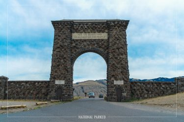 Roosevelt Arch in Yellowstone National Park in Wyoming