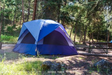 Tower Fall Campground in Yellowstone National Park in Wyoming
