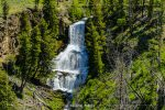 Undine Falls in Yellowstone National Park in Wyoming