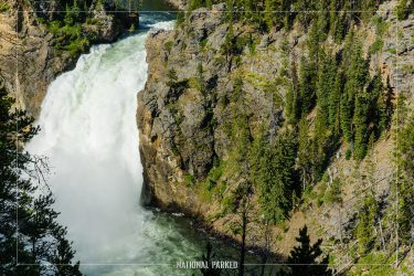 Upper Falls in Yellowstone National Park in Wyoming