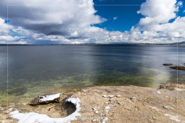 Yellowstone Lake in Yellowstone National Park in Wyoming