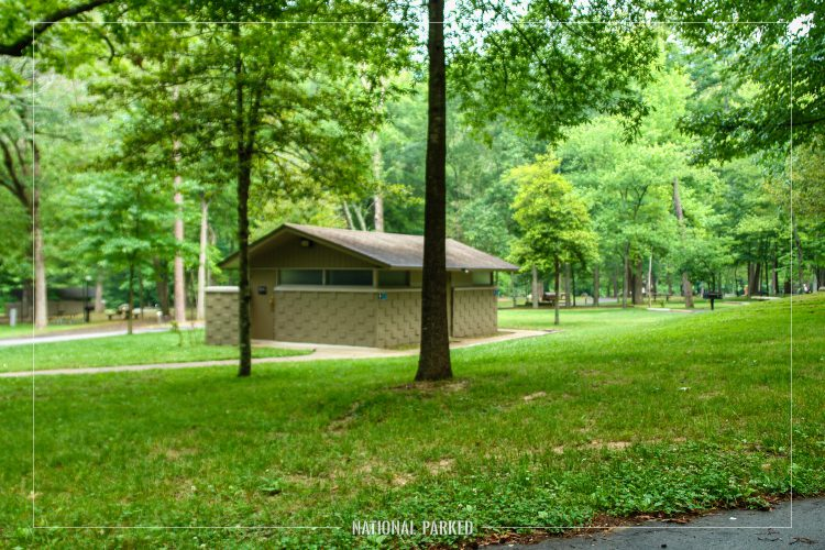 Gulpha Gorge Campground in Hot Springs National Park in Arkansas