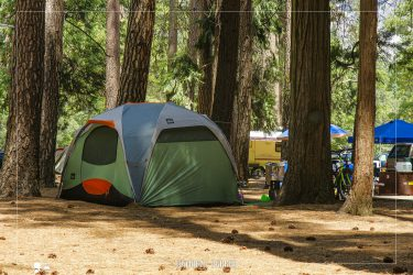 Lower Pines Campground in Yosemite National Park in California