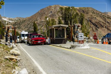 Tioga Pass Entrance Station in Yosemite National Park in California