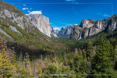Tunnel View in Yosemite National Park in California