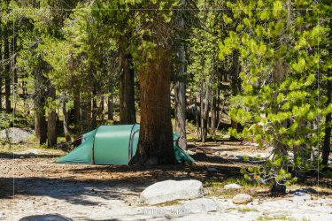 Tuolumne Meadows Campground in Yosemite National Park in California