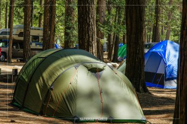 Upper Pines Campground in Yosemite National Park in California