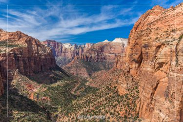 Canyon Overlook in Zion National Park in Utah