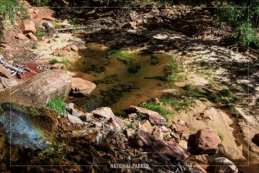 Emerald Pools Trail in Zion National Park in Utah