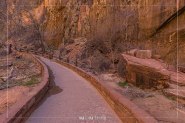 Riverside Walk in Zion National Park in Utah