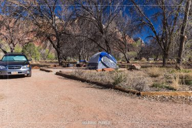 Watchman Campground in Zion National Park in Utah